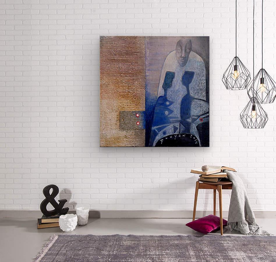 blue horserider 3  Impression sur bois