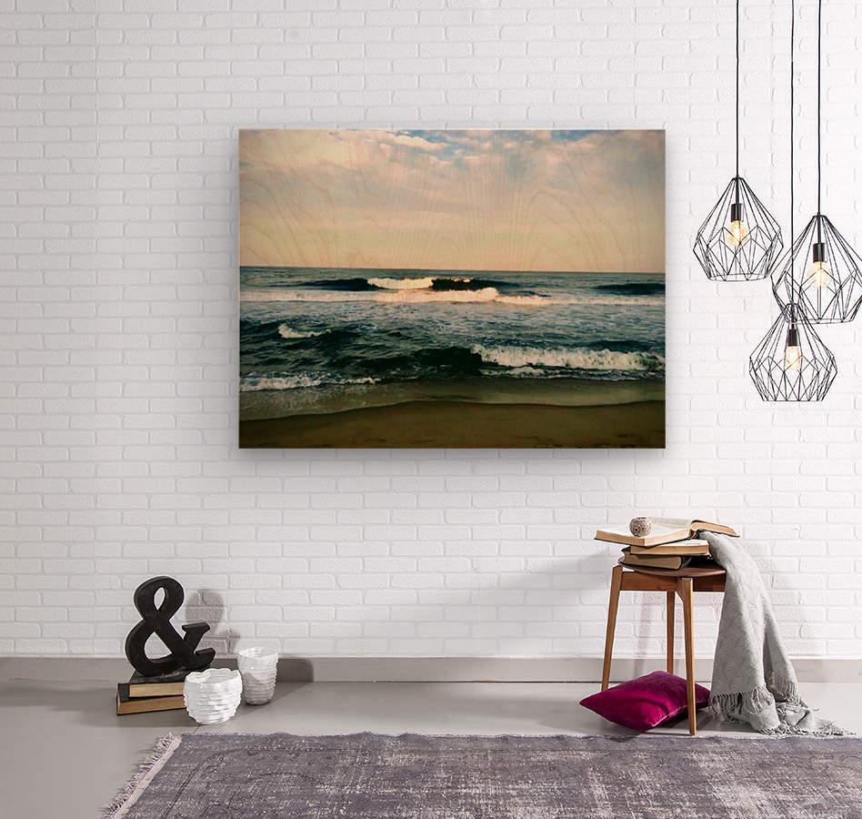 July Surf  Wood print