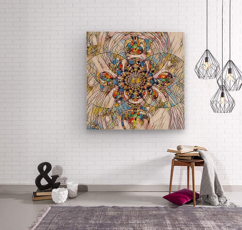 Mosaic Fractal  Wood print