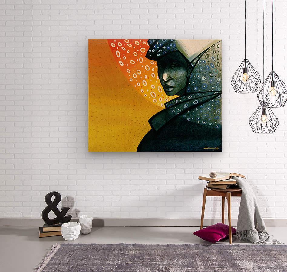 Femme soleil  Wood print