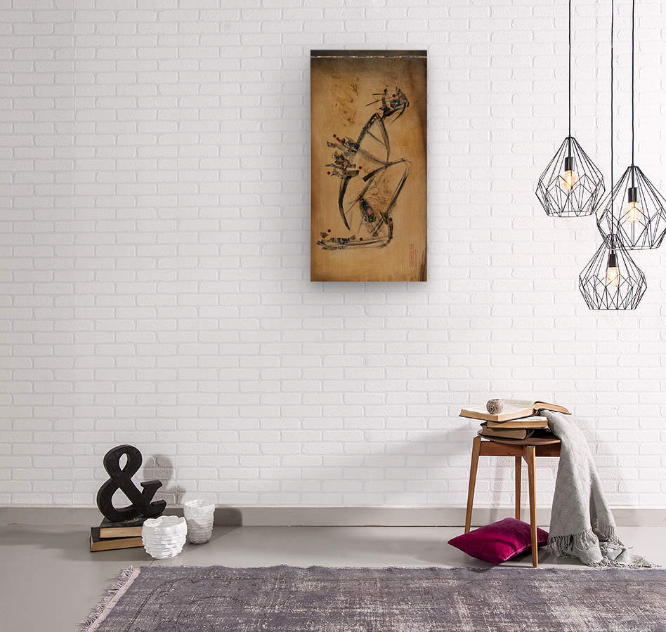 Japanese woman1  Wood print