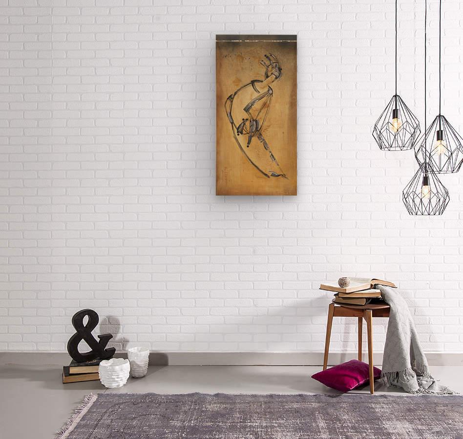 Japanese woman3  Wood print