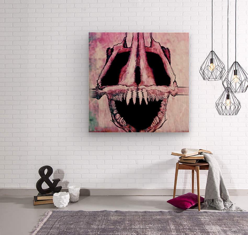 Wolf Eel Skull  Wood print