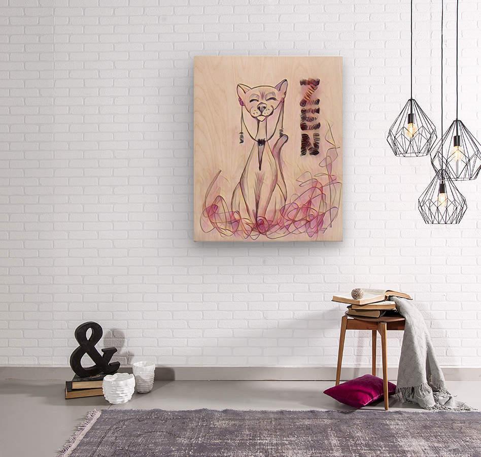 chat zen  Wood print