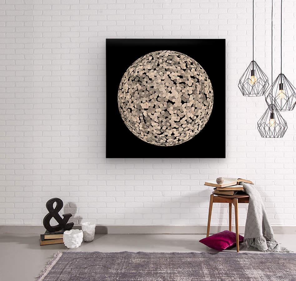 RONDO black & white  Wood print