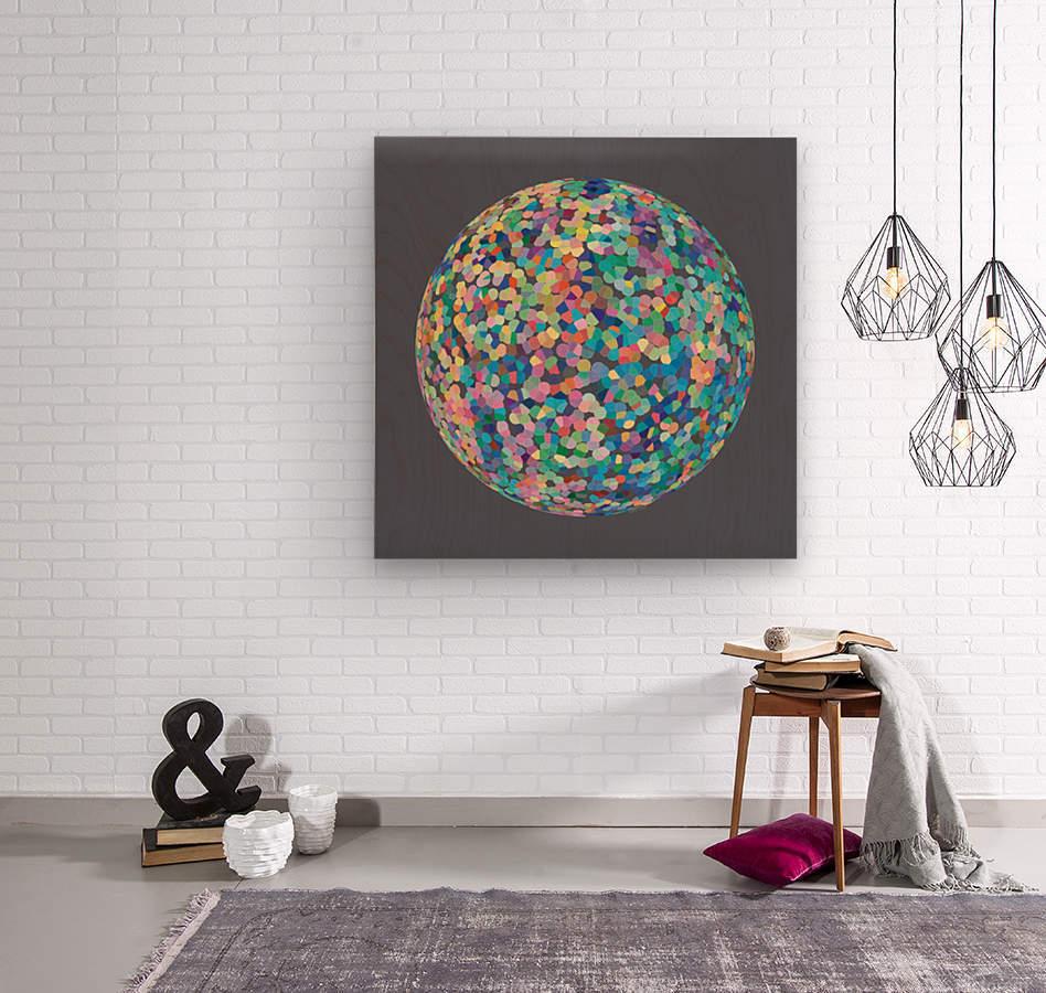 RONDI pastel medium grey  Wood print