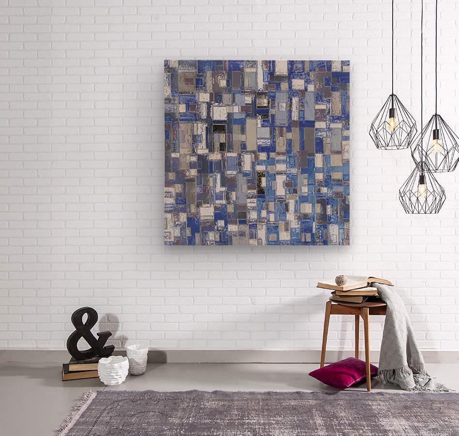 STAGE chrome blue  Wood print