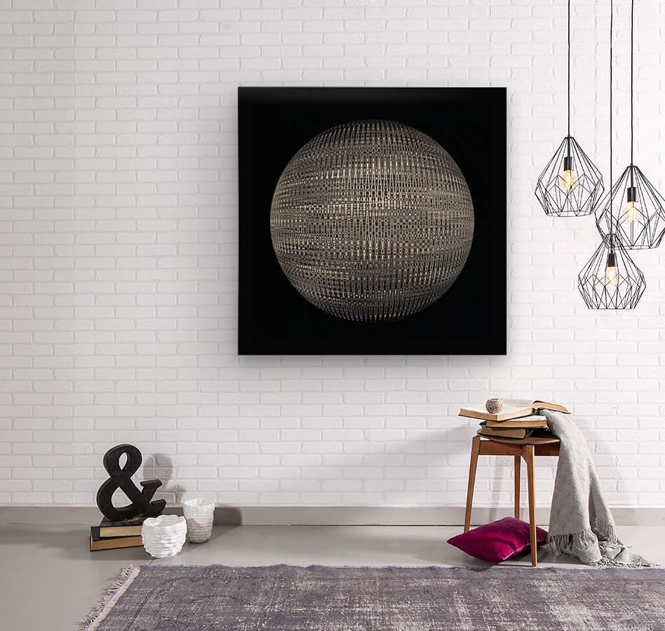 ORB Black and white  Wood print