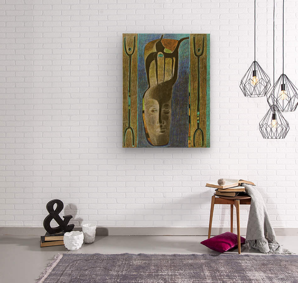 lost Kamel  Wood print