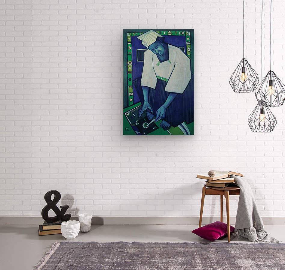 Mozaik bleu  Wood print