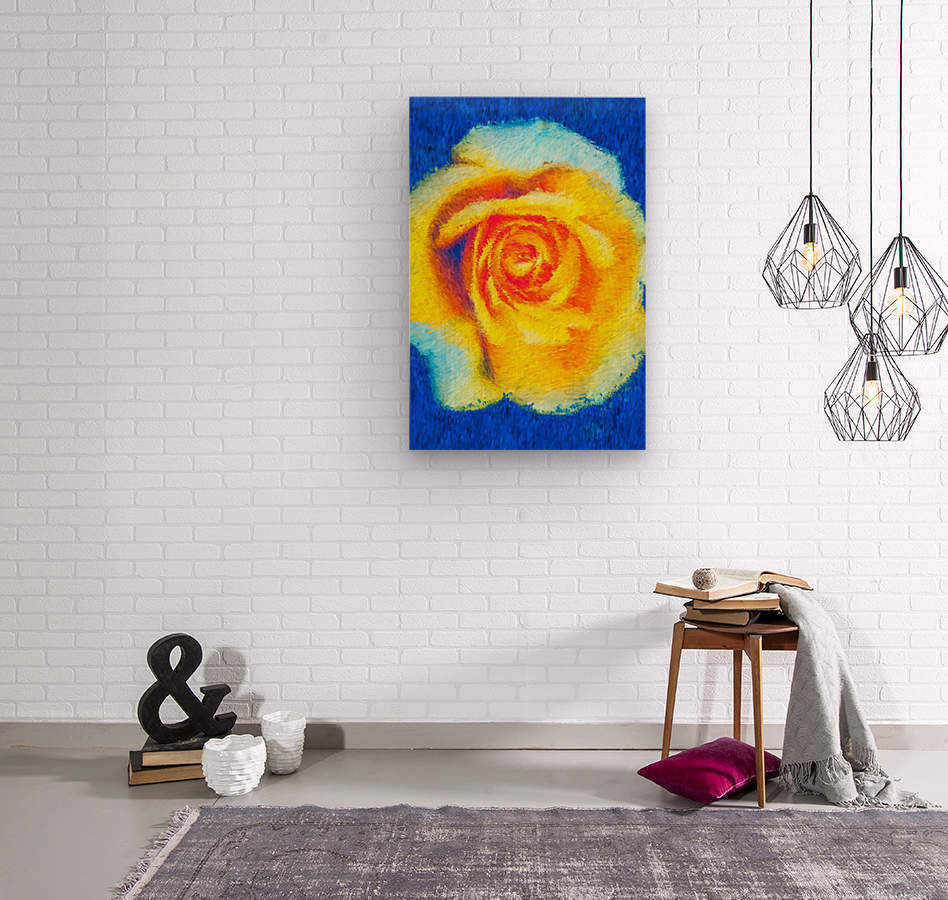 Floating Rose  Wood print