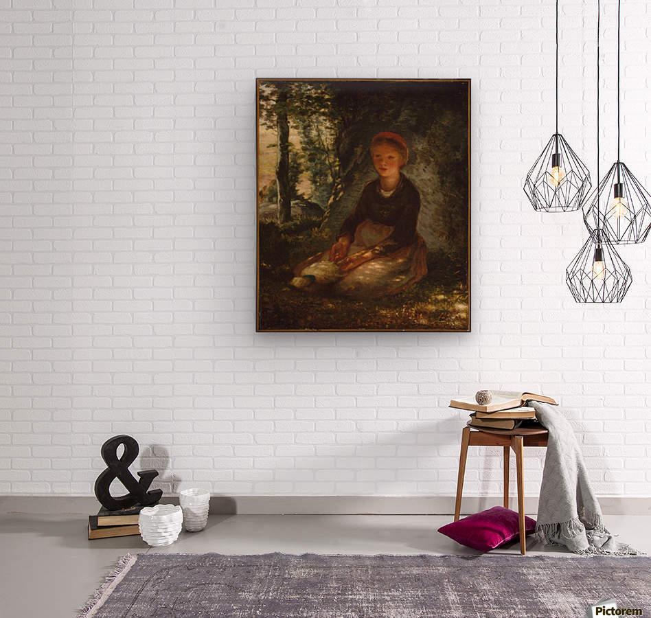 Shepherdess seated in the shade  Wood print