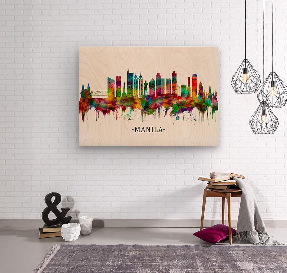 Manila Philippines Skyline  Wood print