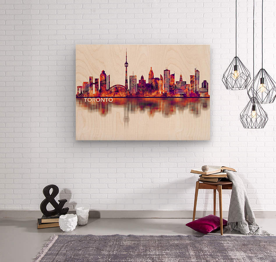 Toronto Canada Skyline  Wood print