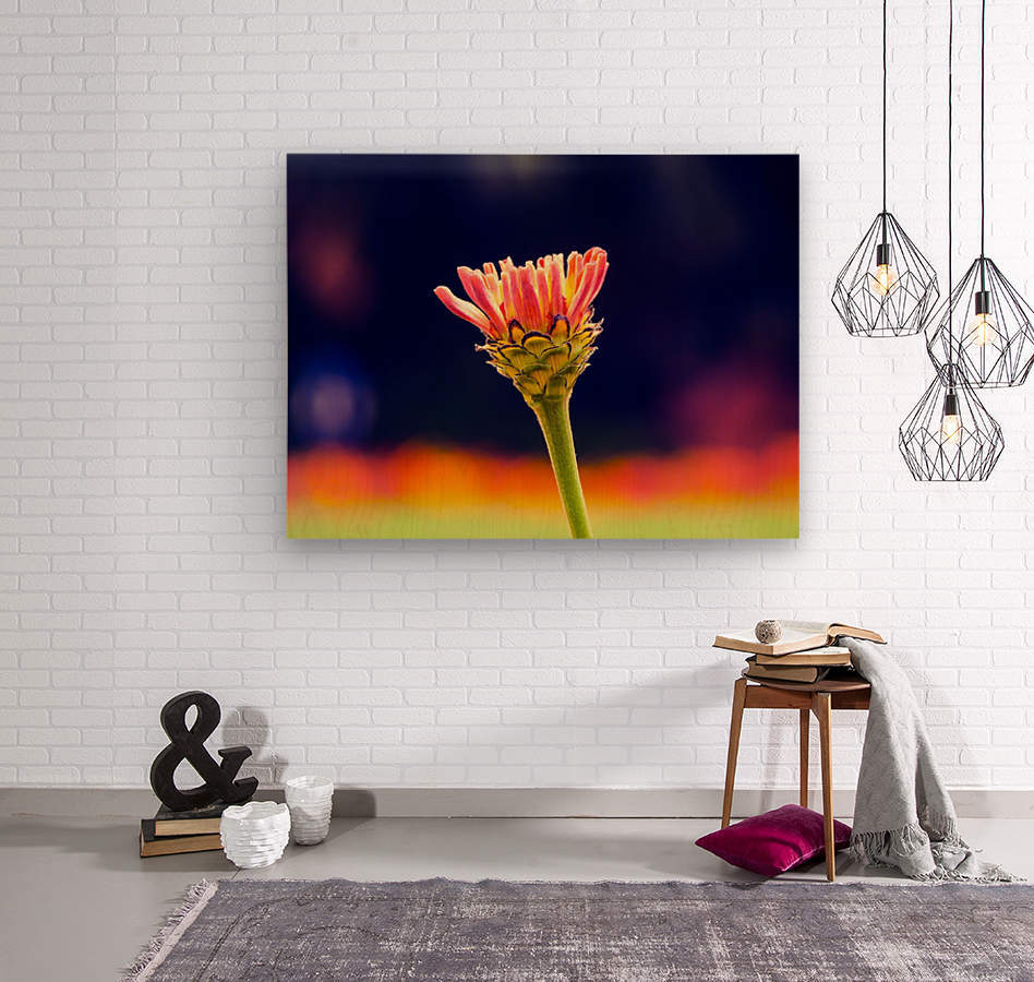 Flower buds  Wood print