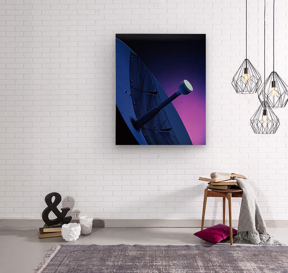 Blue Antenna  Wood print