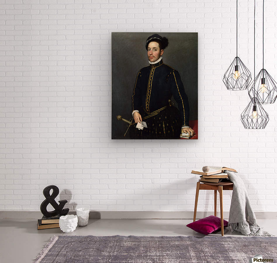 Portrait of a Gentleman ('Il Gentile Cavaliere')  Wood print