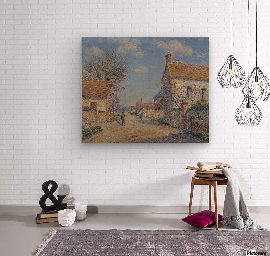 The Street of Saint-Cyr, the Sun  Wood print