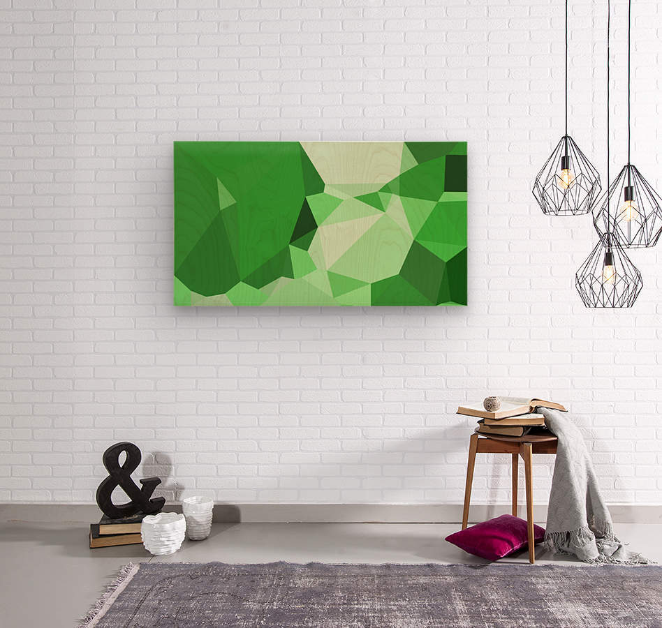 abstract geometric triangular art  Wood print