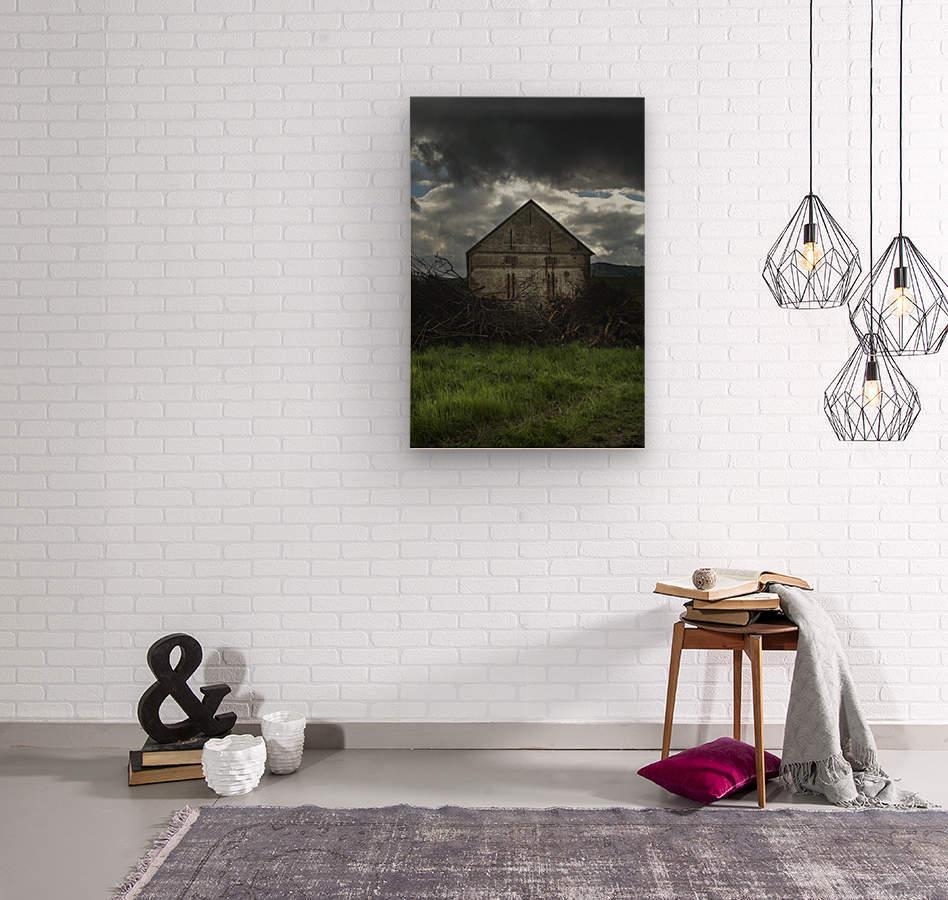 The Barn  Wood print