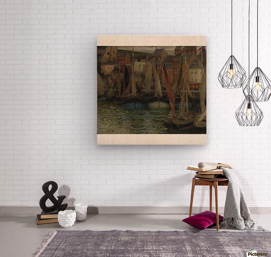 Boats at Treport  Wood print