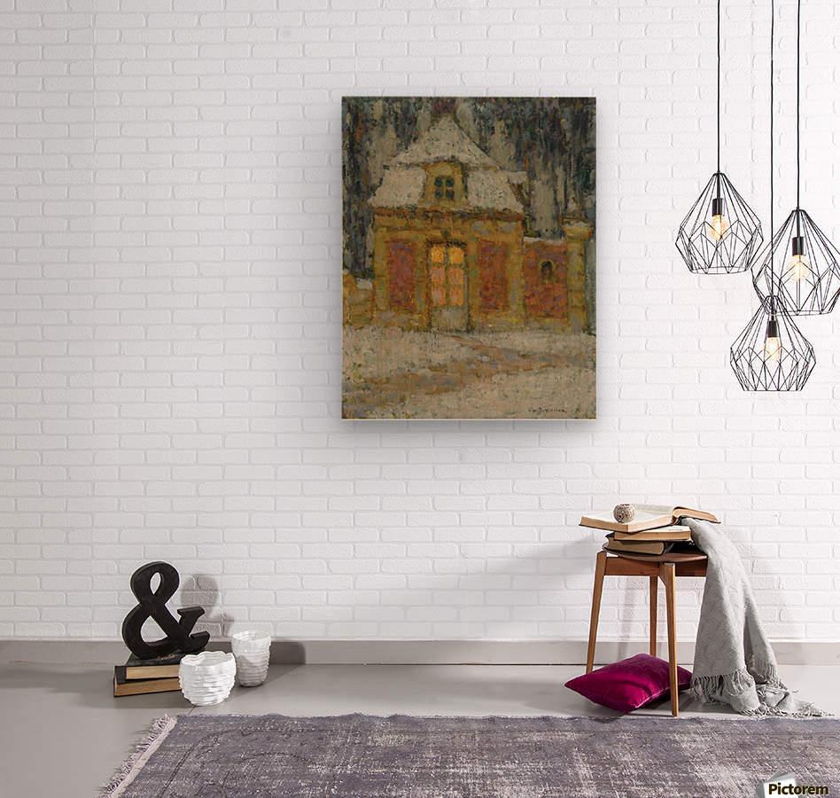 Snow, Versailles  Wood print
