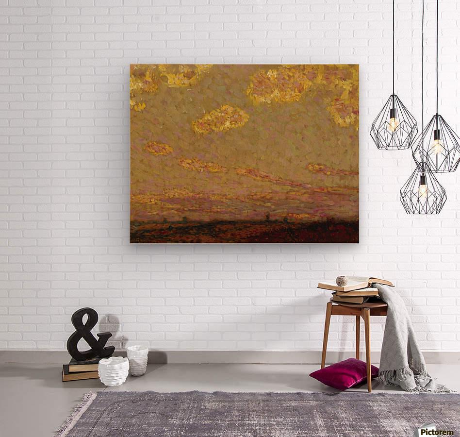 Sunset at Gerberoy  Wood print