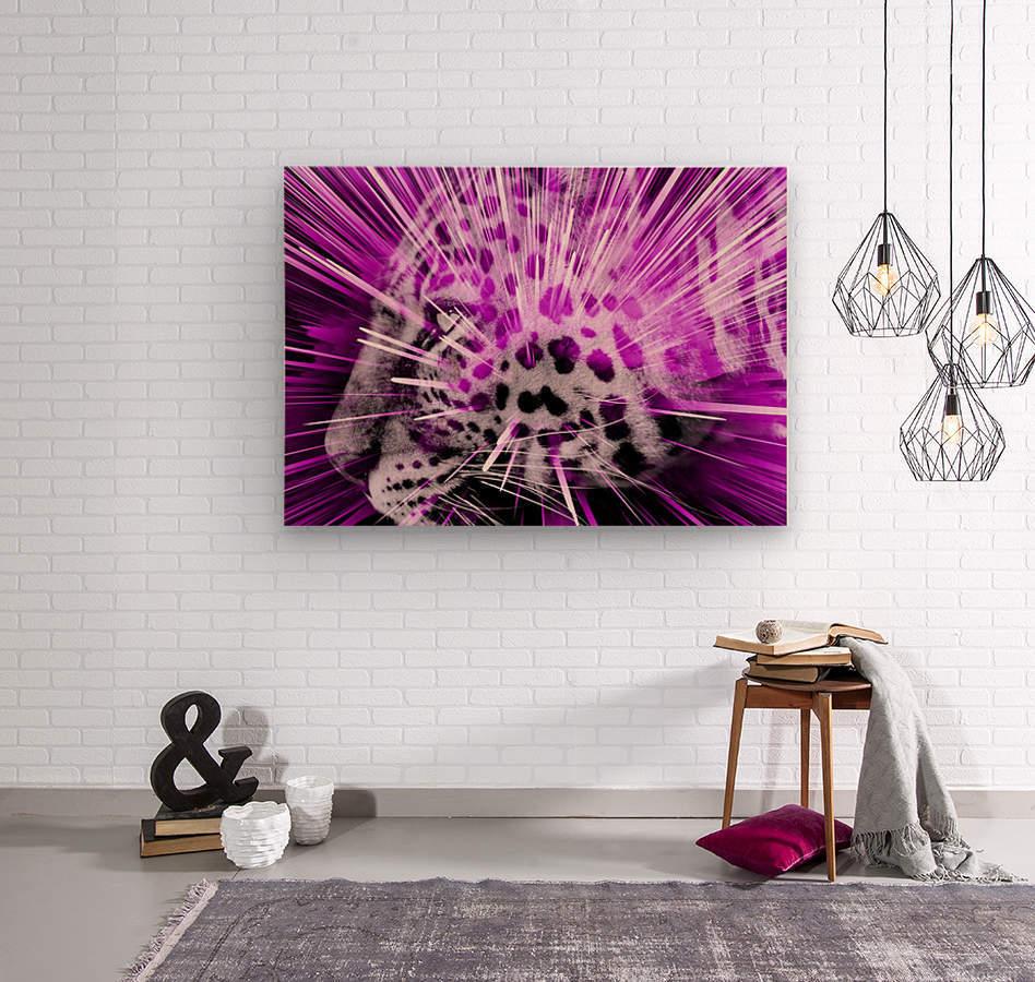 Leopard pop 3  Wood print