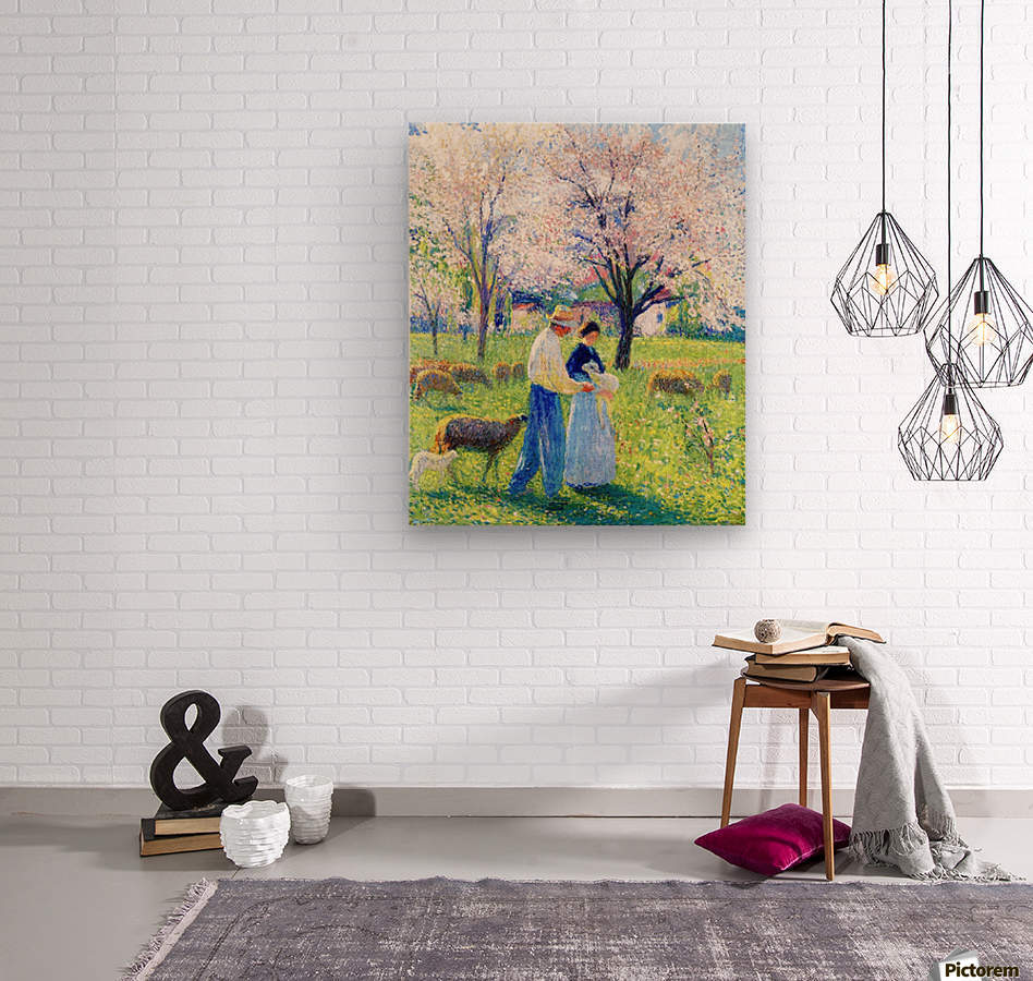 Lovers at Spring  Wood print