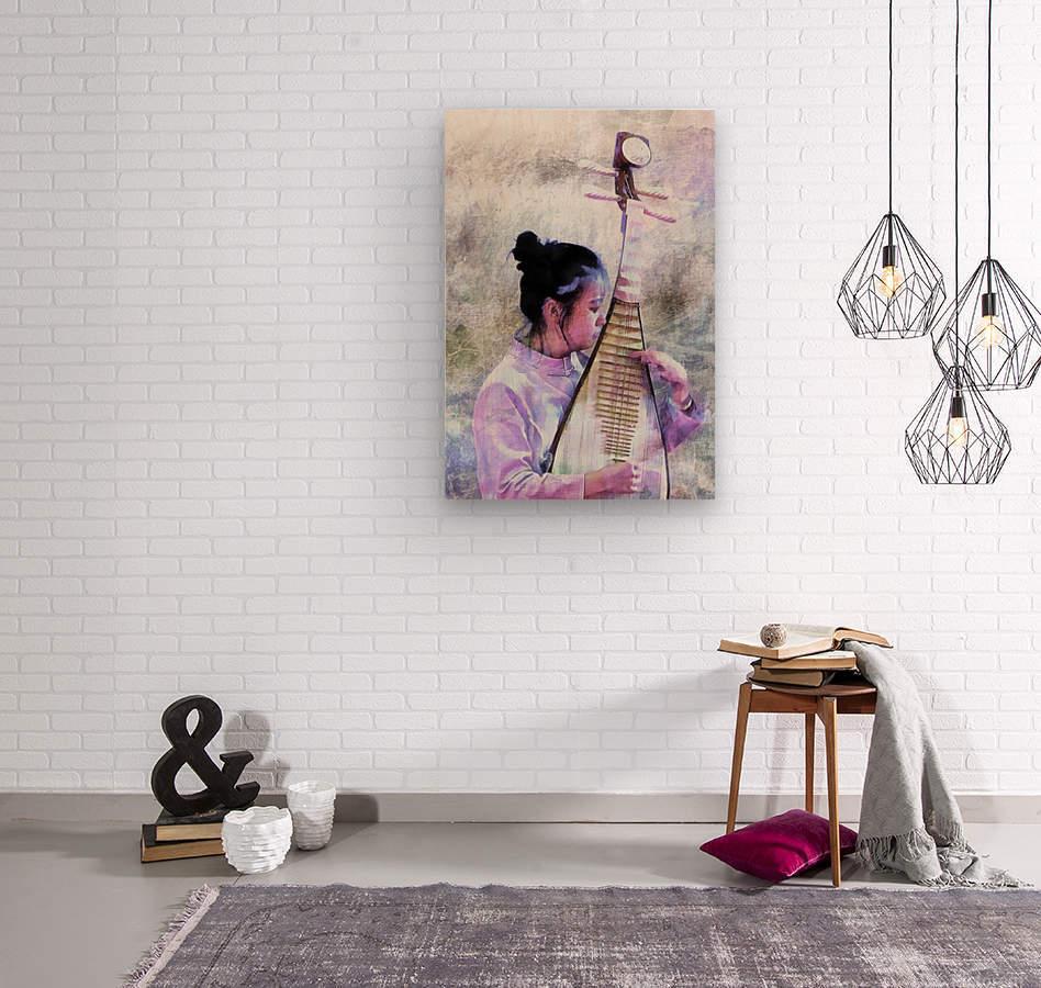 Chinese Musical Interlude  Wood print