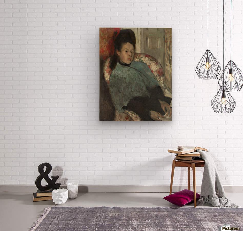 Portrait of Elena Carafa  Wood print