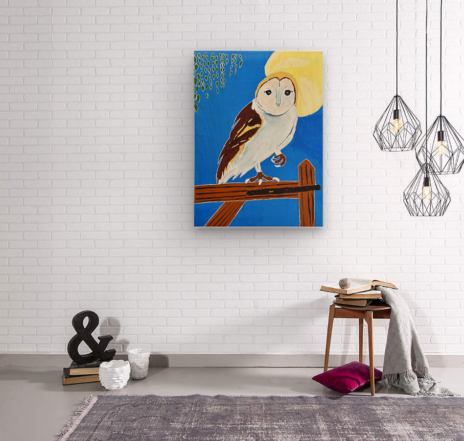 Davere H. Owl  Wood print