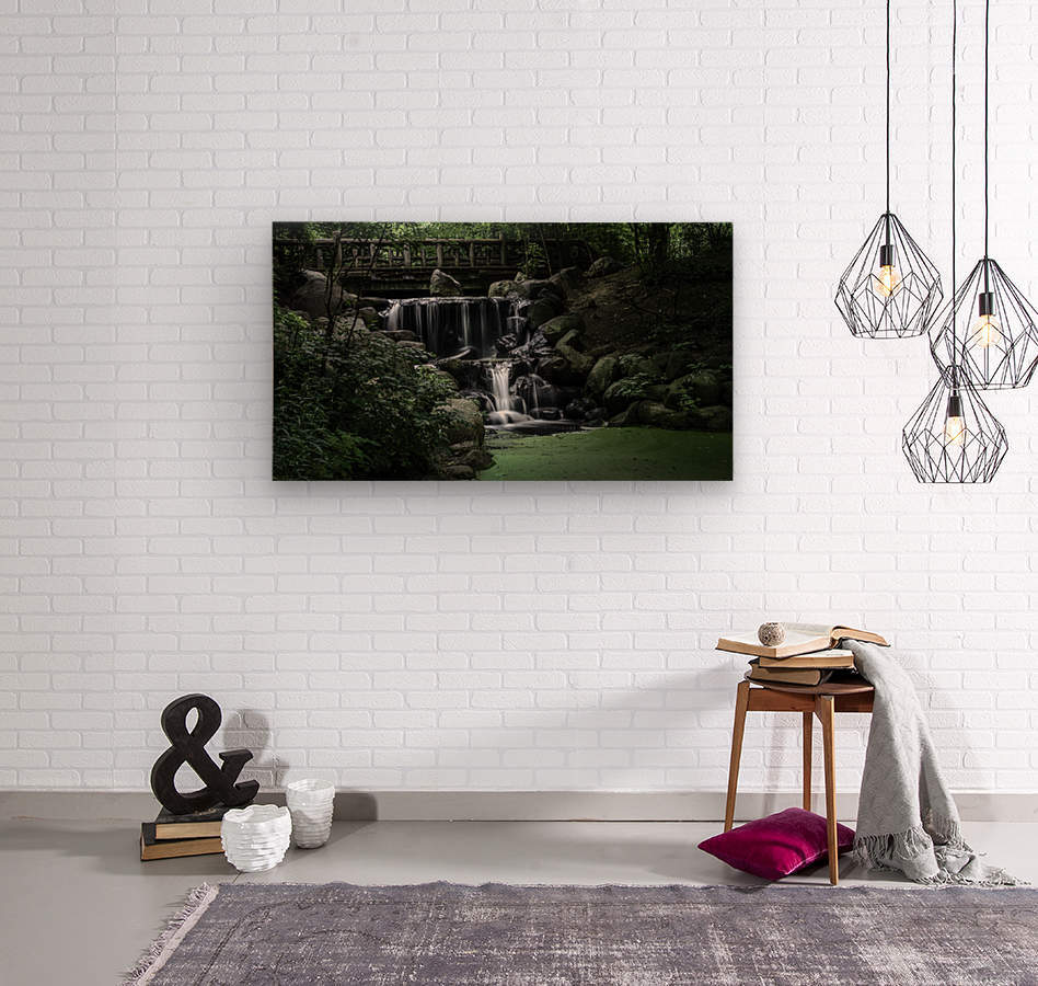 Prospect park waterfall no frame  Wood print