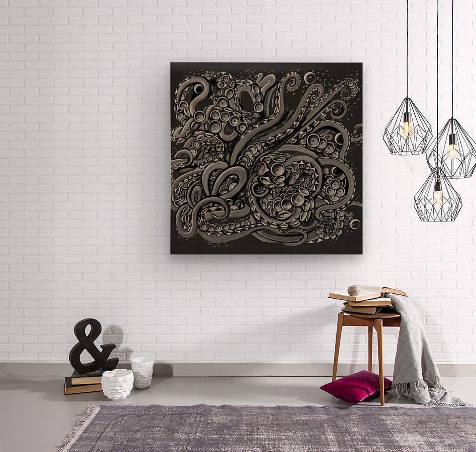 Nova Greyscale  Wood print