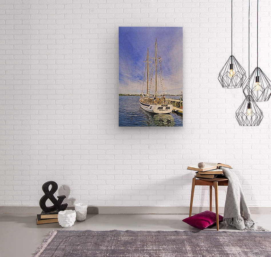 Mar Sailboat in Halifax  Wood print