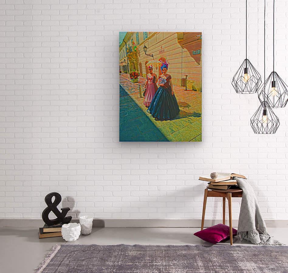 Purple Baroque  Wood print