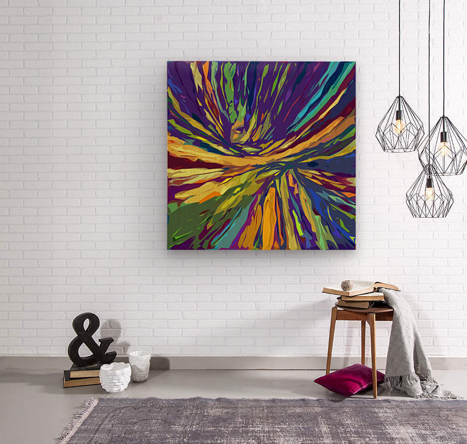 Abstract Composition 731  Wood print