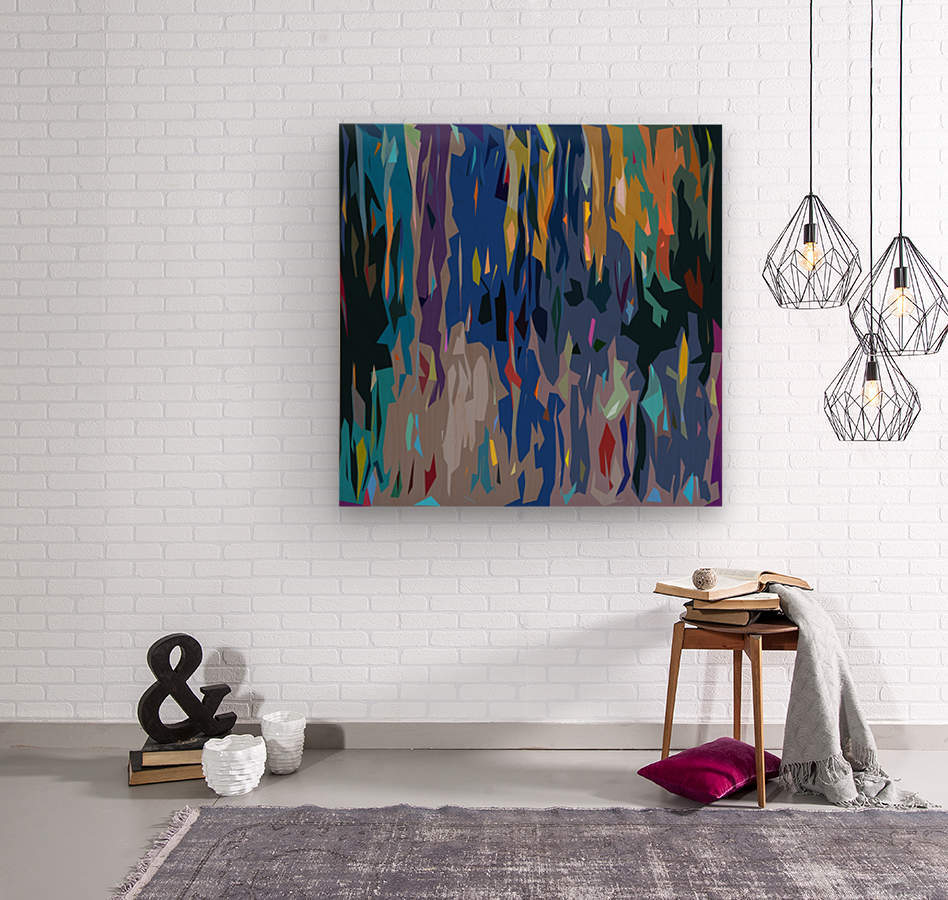 Abstract Composition 726  Wood print