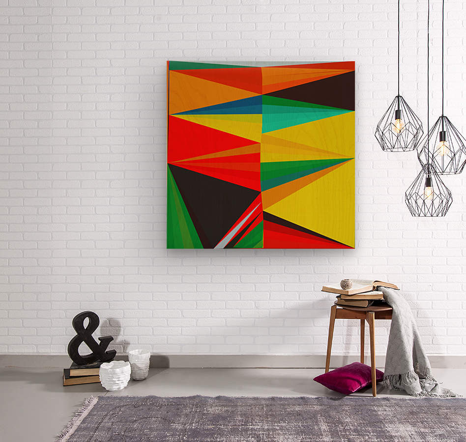 Abstract Composition 652  Wood print