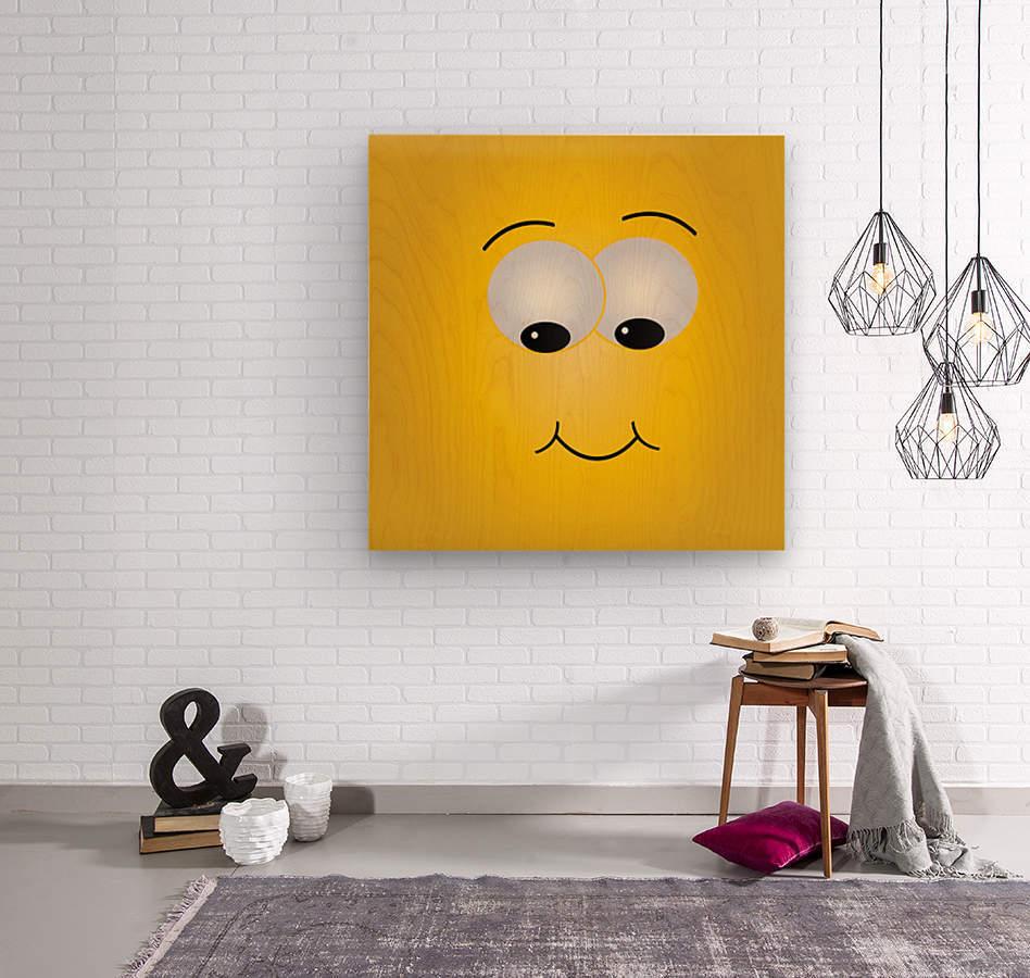 Smiling Puffy   Wood print
