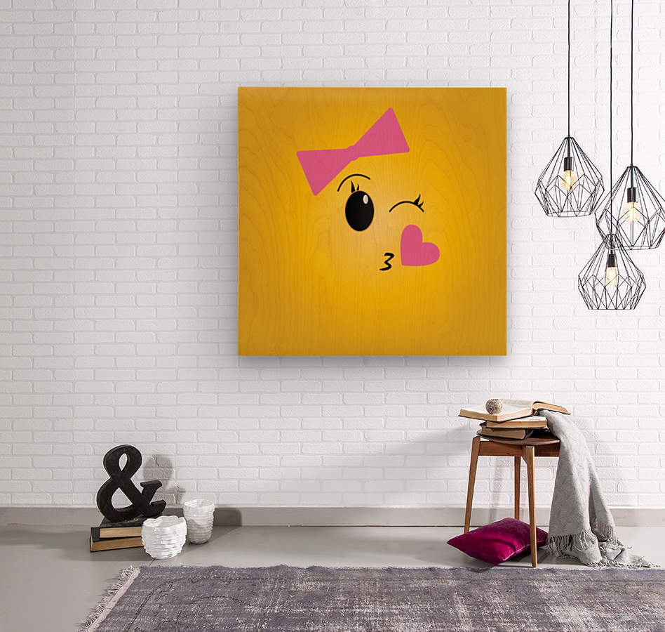 Blushy Girl   Wood print
