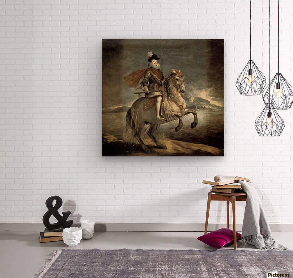 Equestrian portrait of philip iii diego velazquez canvas equestrian portrait of philip iii wood print jeuxipadfo Gallery