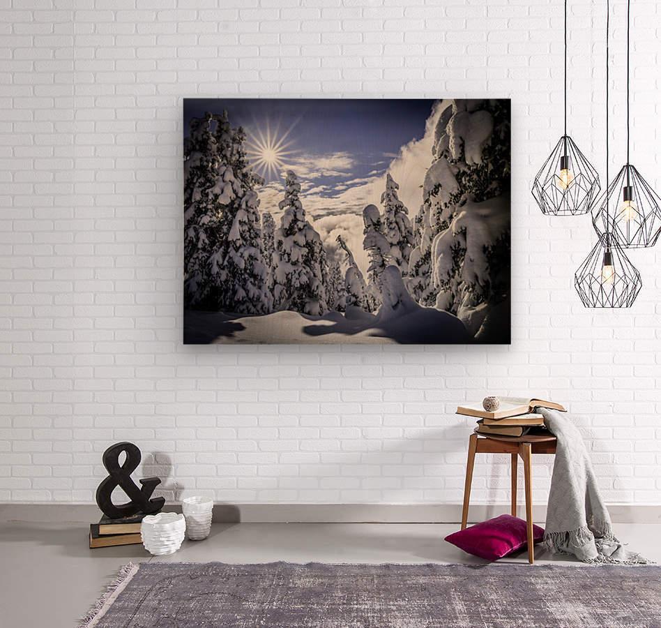 Kootenay Alpine Snow  Wood print