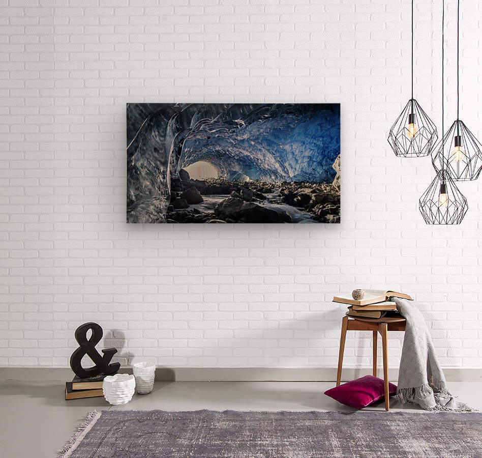 Whistler ice cave  Wood print