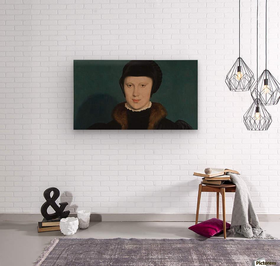Portrait of Christina of Denmark  Wood print