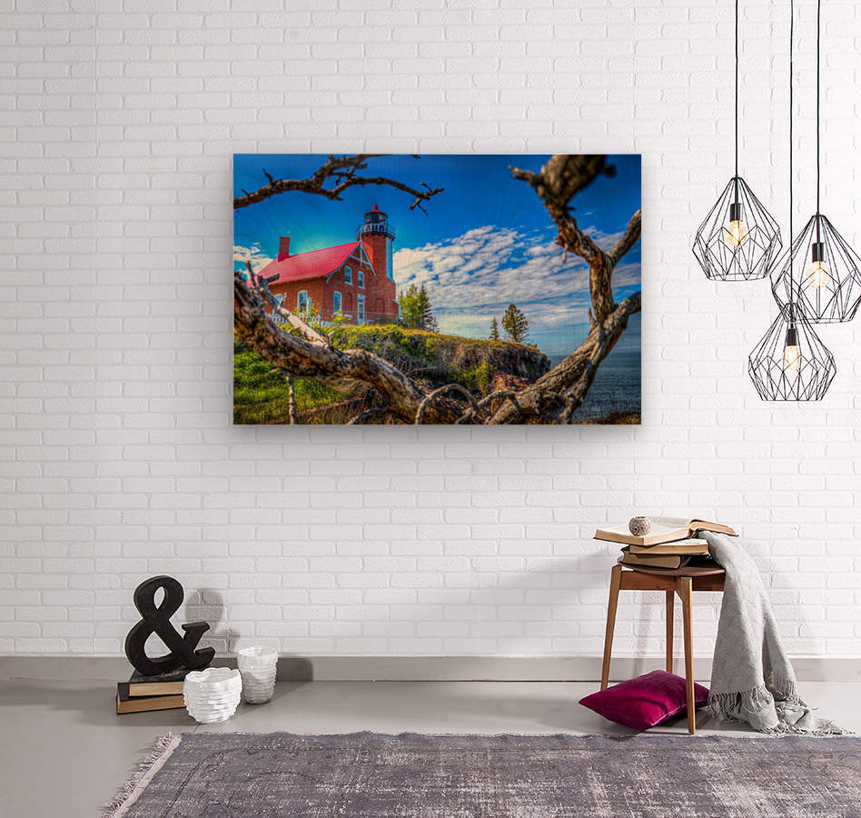 Lake Superior Lighthouse  Wood print