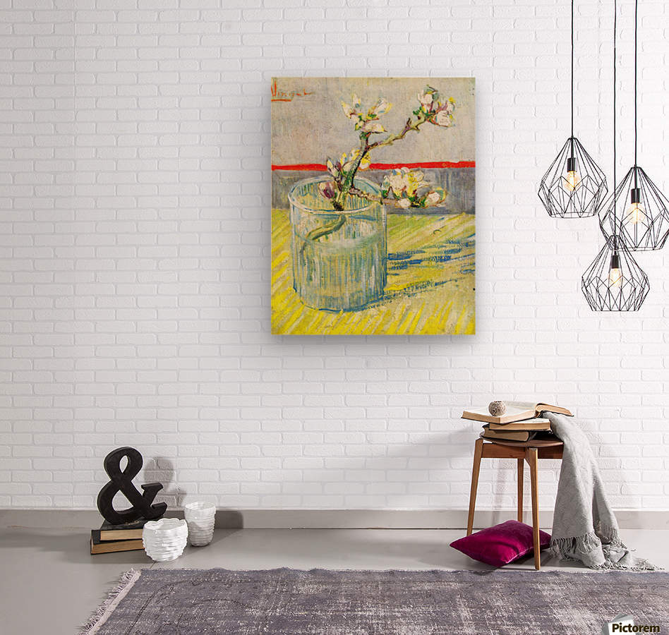 Almond Blossom branch by Van Gogh  Wood print