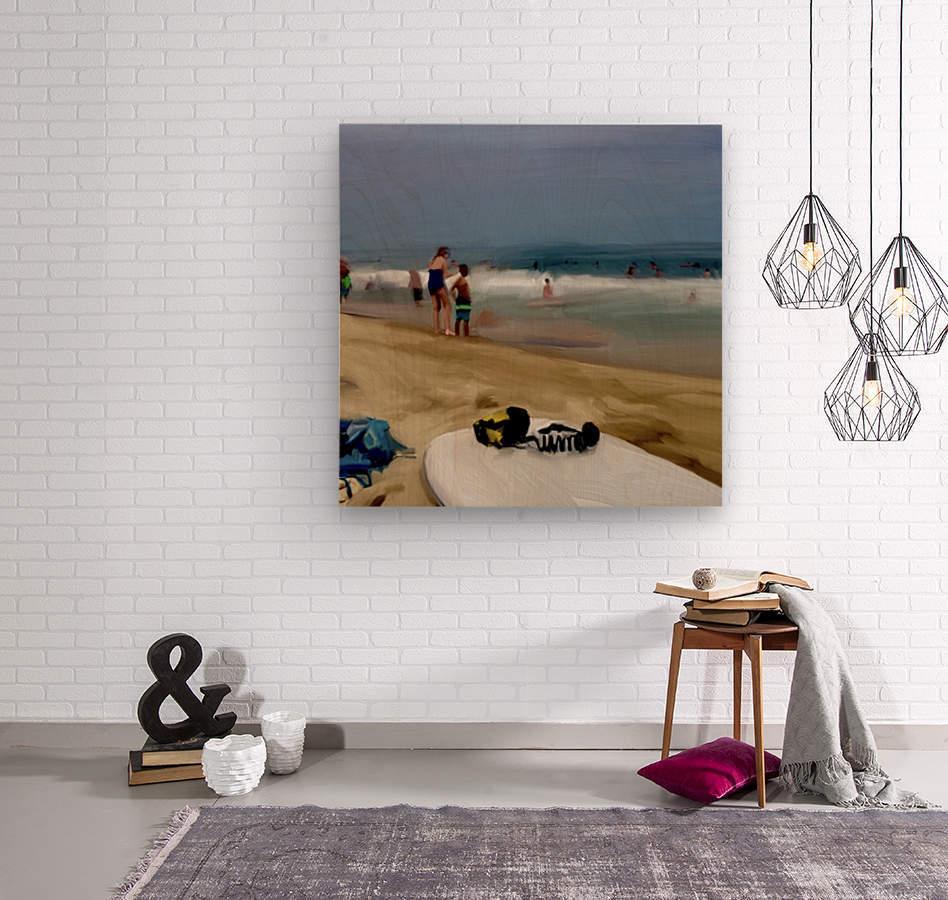 Beach at 52nd Street  Wood print