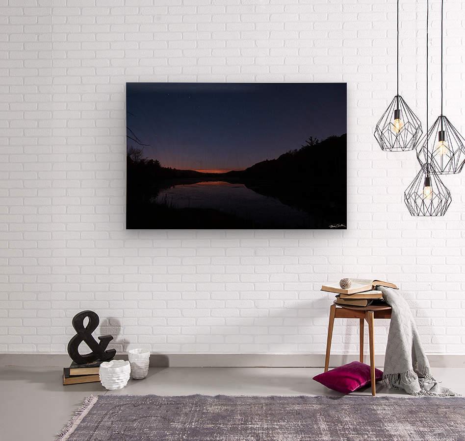 Starlit Pond  Wood print