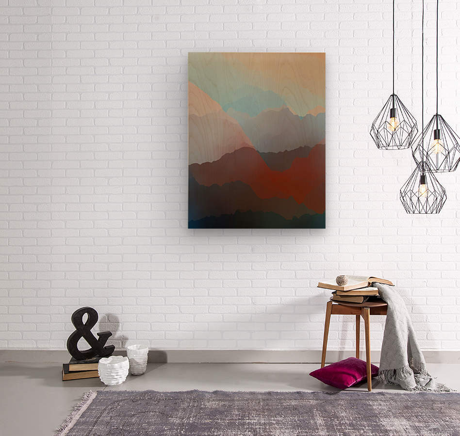Beautiful Mountains 2  Wood print
